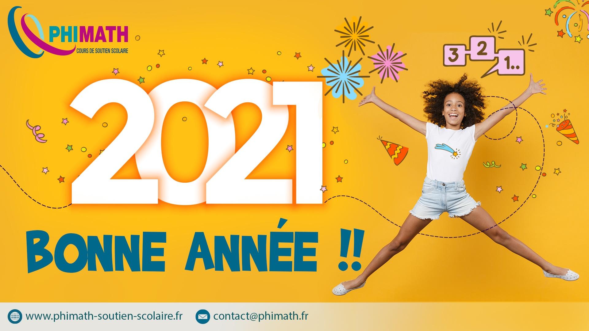 soutien scolaire Martinique Phimath Bonne année 2021