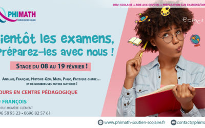 Atelier Préparation Bac Français du 08 au 19 Février 2021