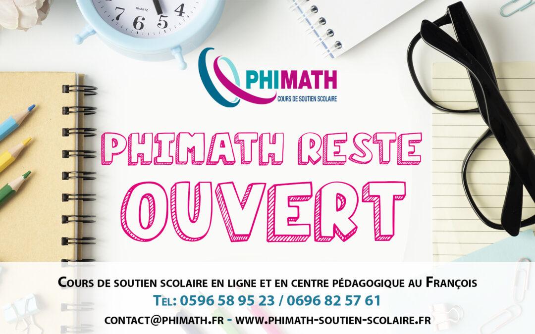 Phimath reste ouvert pendant le confinement